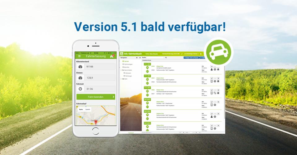 KFZ Fahrtenbuch 5.1 bald verfügbar