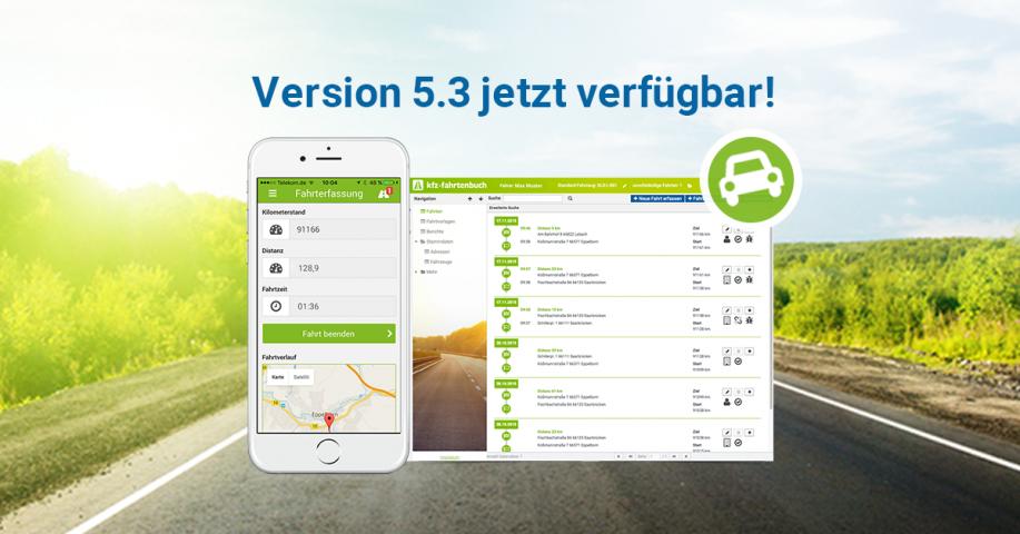 Fahrtenbuch 5.3 jetzt verfügbar
