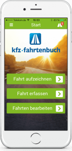 Fahrtenbuch iPhone Startbildschirm